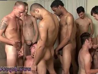 Extreme gay jizzshot movies Kyle Marks the Bukkake Target!