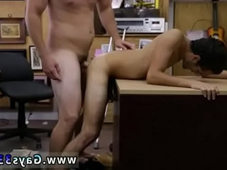 Straight guys rubbi-sexualng dicks together and fuck homo Dude squeals like a