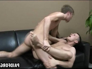 Horny amateur hunk is getting fucked deep and hard for money