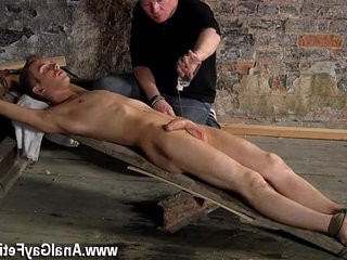 Gay fuck British lad Chad Chambers is his latest victim, restraind and
