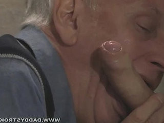 Daddy Sucking Big dick Through Gloryfuckhole