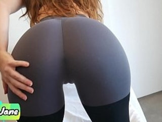 Step Sister Makes Me Cum in Her Panties and Yoga Pants and Pull Them up