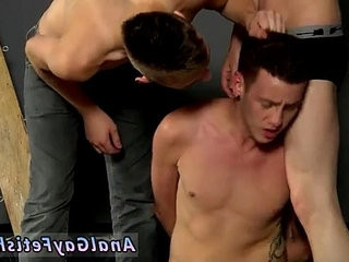 dudes masturbating at gay nude beaches Fed manstick in one end and