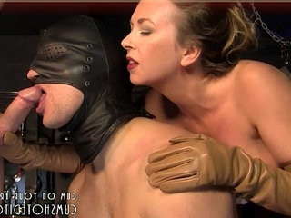 Hot Blonde Making A dude Suck Cock