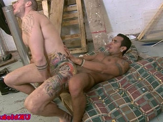 English tattootood jock drilling bumcrevice