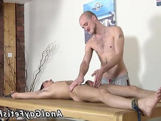 Extreme foot fetish bathe gay Brit twink Oli Jay is trussed down to