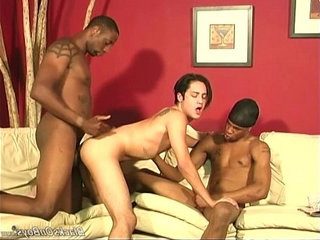 Emo dude gets groupbanged by black monster cocks